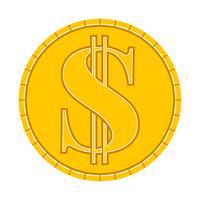 Ícone de vetor de moeda de dinheiro