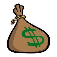 Ilustração em vetor de saco de dinheiro