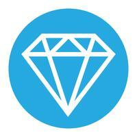 Logotipo de vetor de diamante