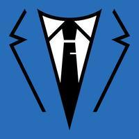 Homem negócios, em, paleto, cabeça, vetorial, ícone vetor