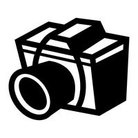 Ícone de vetor de câmera de fotografia