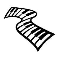 Ícone de vetor de instrumento musical de teclado de piano