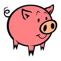 Ilustração em vetor dos desenhos animados de porco