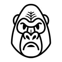 Gorila macaco macaco rosto vetor