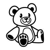 Urso de peluche bonito vetor