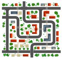 Vista superior do mapa vetor