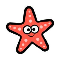 Ícone de vetor de criatura do mar estrela do mar