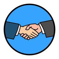 Ilustração do vetor de aperto de mão
