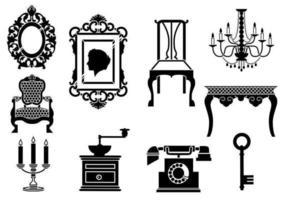 Pacote de vetores de móveis vintage