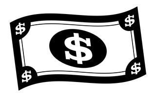 Ilustração em vetor conta de dólar