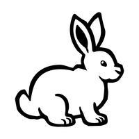 Gráfico de coelho de coelho dos desenhos animados vetor