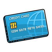 Cartão de crédito vetor