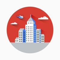 Cidade plana vetor