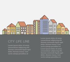 edifícios urbanos vetor