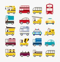Conjunto de carros vetor
