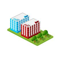 Casas isométricas, casas de cidade,