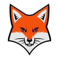 Ícone de vetor de logotipo de cara de raposa