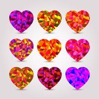 Conjunto de corações vetor