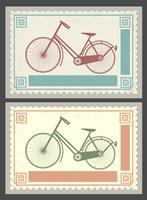 Selos postais retrô vetor