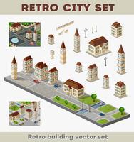 edifícios retro vetor
