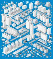 Um grande conjunto de urbano isométrico