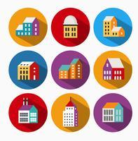 Ícones urbanos vetor