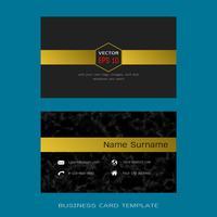 Modelos de layout de cartão de visita designer moderno. vetor