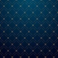 Linha geométrica abstrata teste padrão do traço do ouro dos quadrados na obscuridade - estilo azul do luxo do fundo.