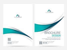 Modelo de layout de folheto, folheto Flyer capa projeto fundo vetor