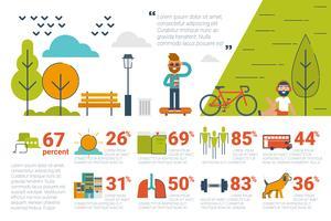 Conceito de parque Infográfico ícones e elementos vetor