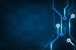 Design no conceito de placas de circuitos eletrônicos. vetor