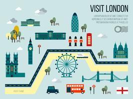 Visite Londres vetor