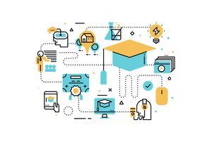 Ilustração de educação on-line vetor