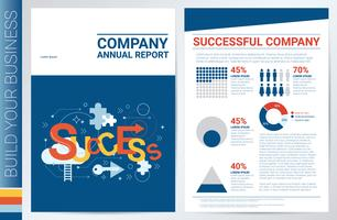Modelo de capa de livro de empresa bem sucedida vetor