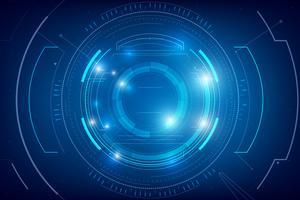 Fundo de tecnologia abstrata HUD 007 vetor