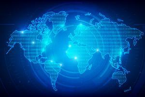 Fundo abstrato mundo mapa binário dígito textura 001