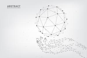 Fundo abstrato geométrico tecnologia vetor