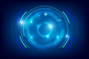 Resumo de fundo de tecnologia HUD 004