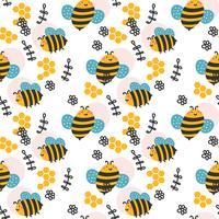 Padrão de abelha vetor