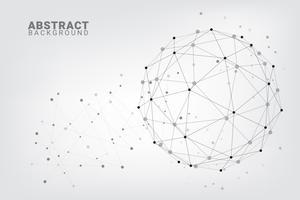 Fundo abstrato da tecnologia. Fundo geométrico do vetor. Conexões de rede global com pontos e linhas. vetor