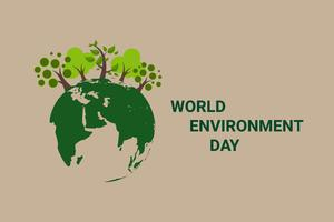 Salvar o conceito do mundo do planeta da terra. Dia Mundial do Meio Ambiente. texto ecológico e folha verde natural. vetor