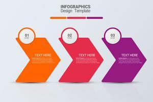 Infografia de três etapas. Negócio de vetor