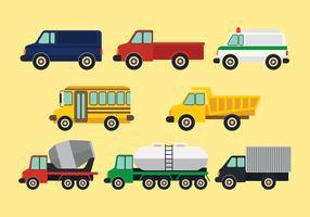 Conjunto de Clipart de transporte vetor