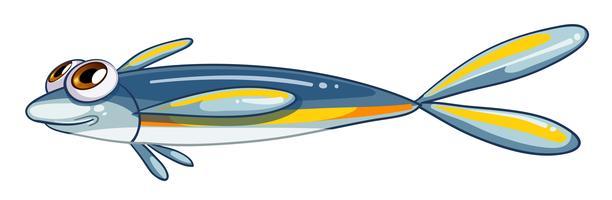 Um peixe minúsculo vetor