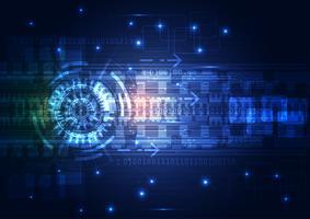 Circuito de tecnologia digital ilustração em vetor abstrato