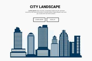 landscape_landing_urbancity vetor