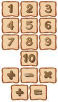 Número, ligado, tábua madeira vetor