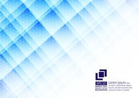 Elementos geométricos cor azul com design moderno de fundo abstrato de pontos
