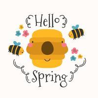 Olá Primavera Fundo vetor
