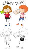 Estudo de personagem de menina Doodle